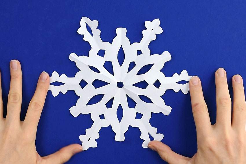 Paper Snowflakes - Step 7