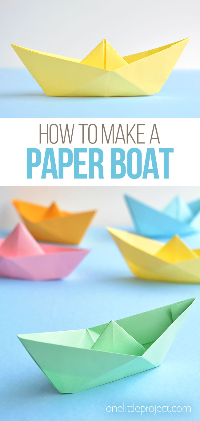 Origami Folding Instructions - How to make a Simple Origami boat | 1370x650