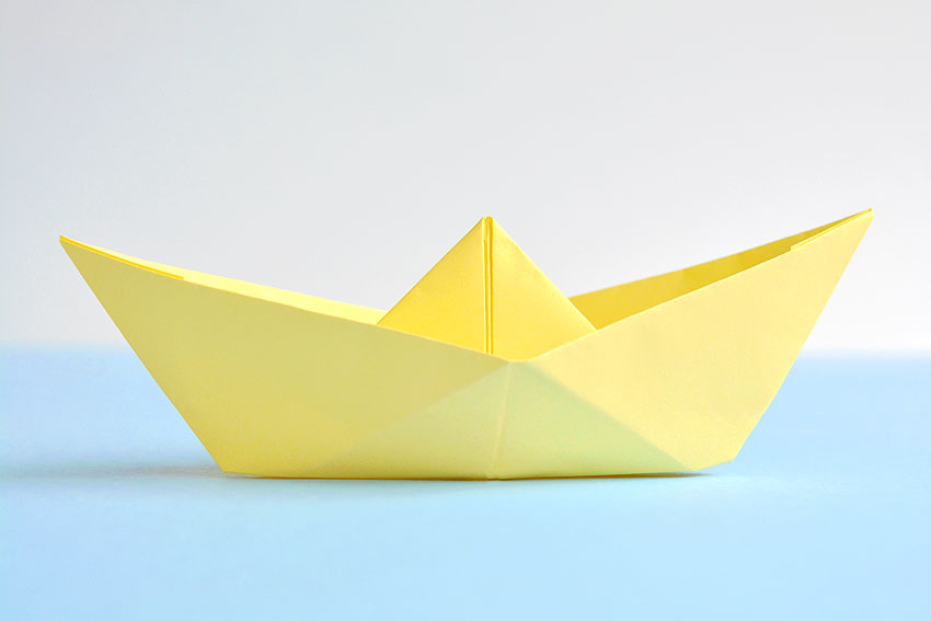 How to Fold an Origami Sail Boat: 10 Steps (with Pictures) | 567x850