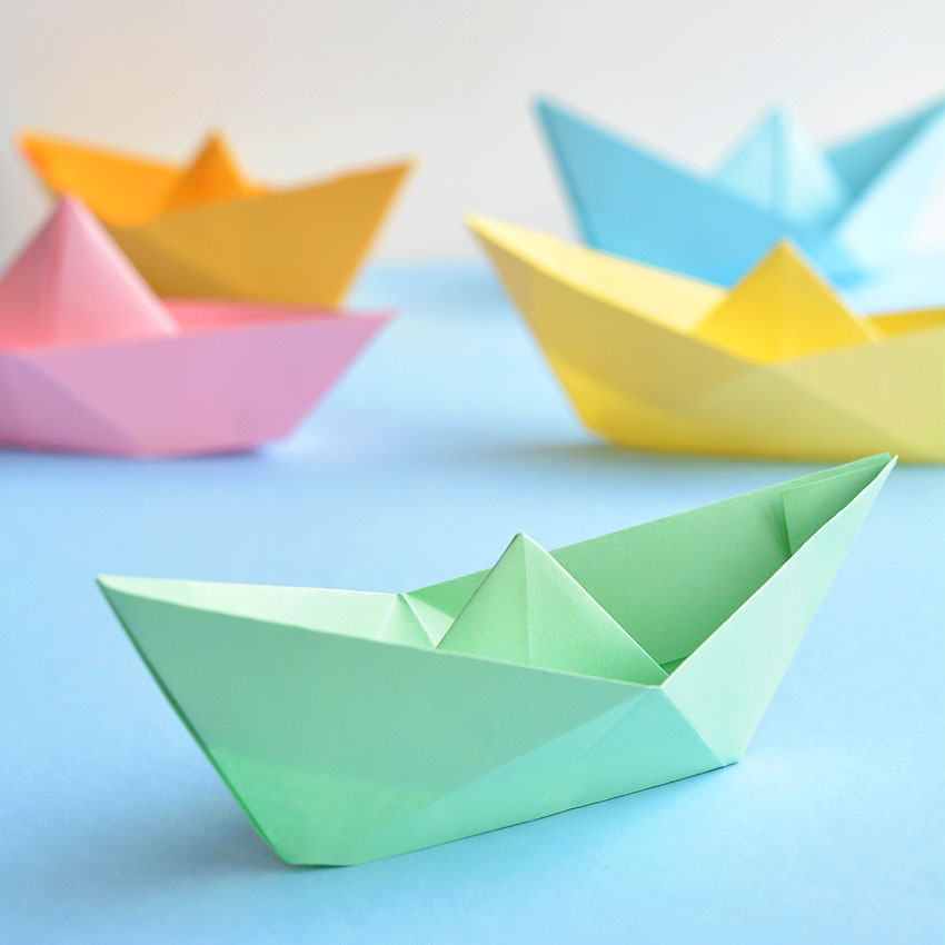 How to Make a Paper Boat | Origami Boat Tutorial | 850x850