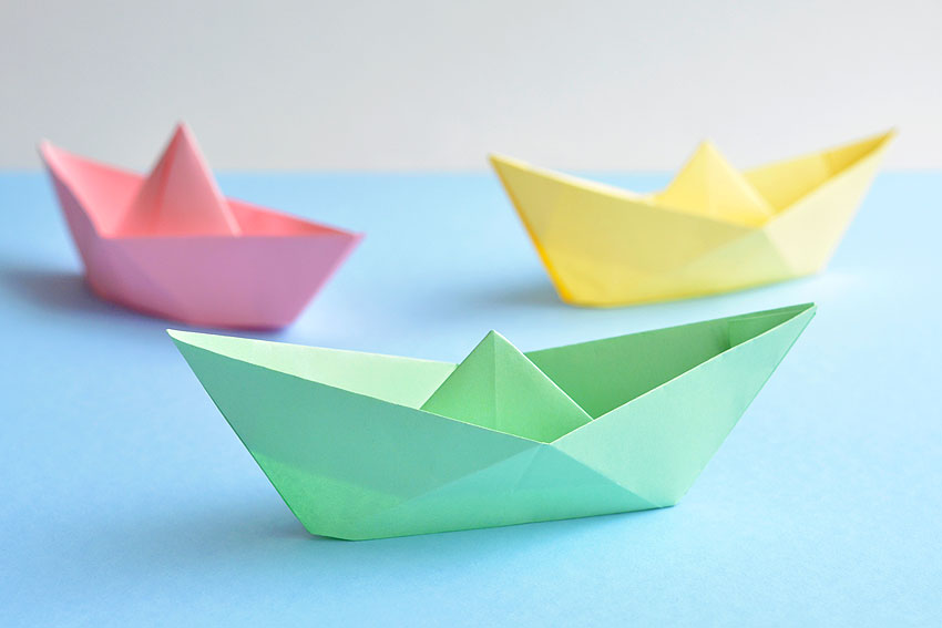 Origami Boat Instructions | Free Printable Papercraft Templates | 567x850