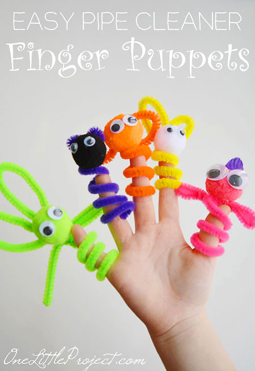 40+ Awesome Pipe Cleaner Crafts - Pipe Cleaner Finger Puppets