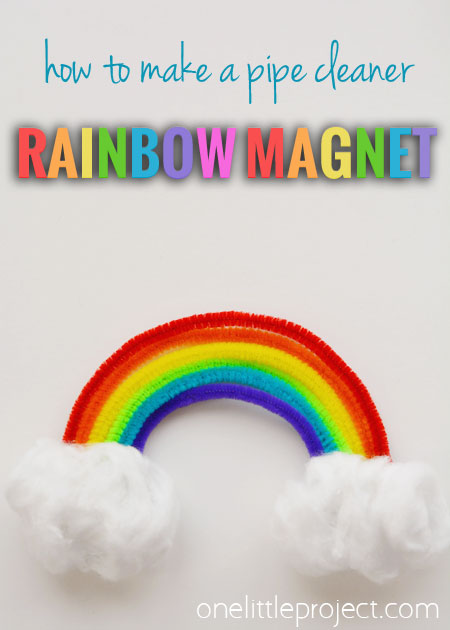 40+ Awesome Pipe Cleaner Crafts - How to Make a Pipe Cleaner Rainbow Magnet