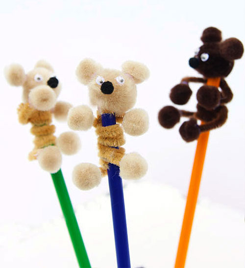 40+ Awesome Pipe Cleaner Crafts - Pipe Cleaner Teddy Bears