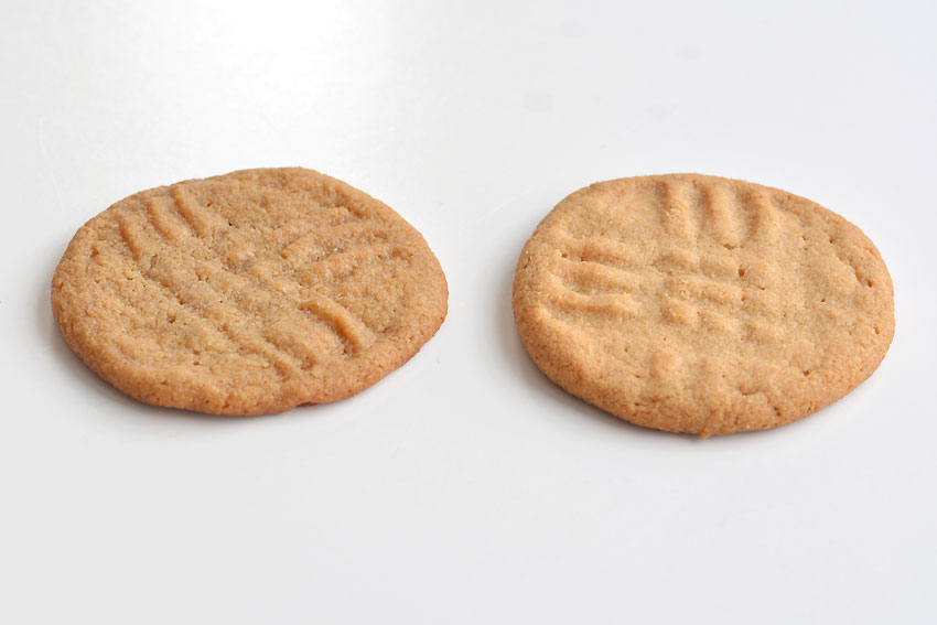 Easy Peanut Butter Cookies - Difference between white sugar and brown sugar