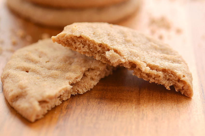 Easy Peanut Butter Cookies - Broken Cookie