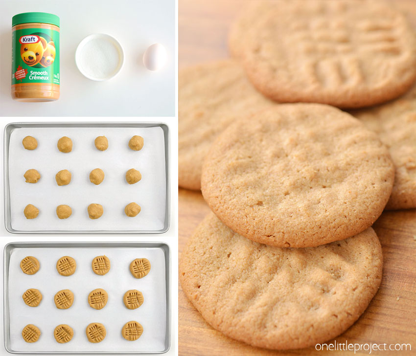 These 3 ingredient peanut butter cookies are SO EASY and taste amazing! With just 3 simple ingredients, you can make this easy peanut butter cookie recipe in less than 30 minutes! This is such a classic cookie recipe and a fantastic recipe for kids when they're learning to bake. Such an awesome, delicious and gluten-free cookie recipe!