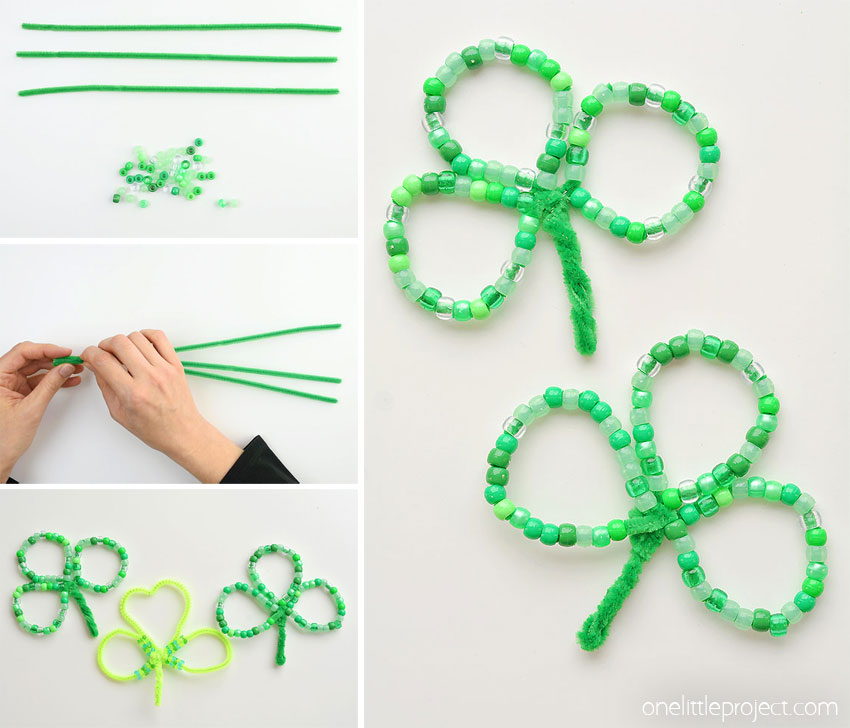 shamrock pipe cleaner craft