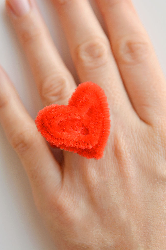 Cute heart ring