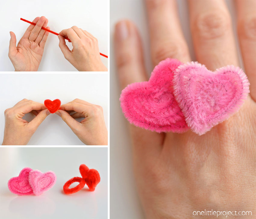Pipe cleaner valentine crafts