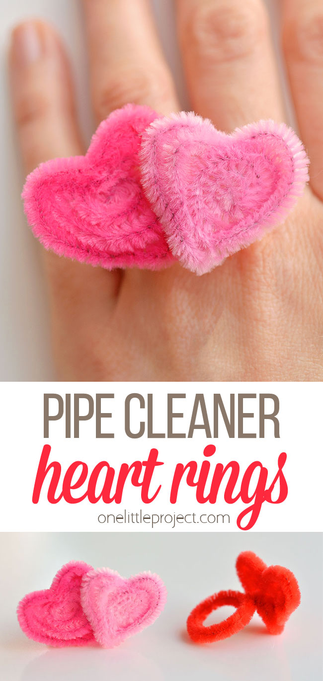 Pipe cleaner heart ring