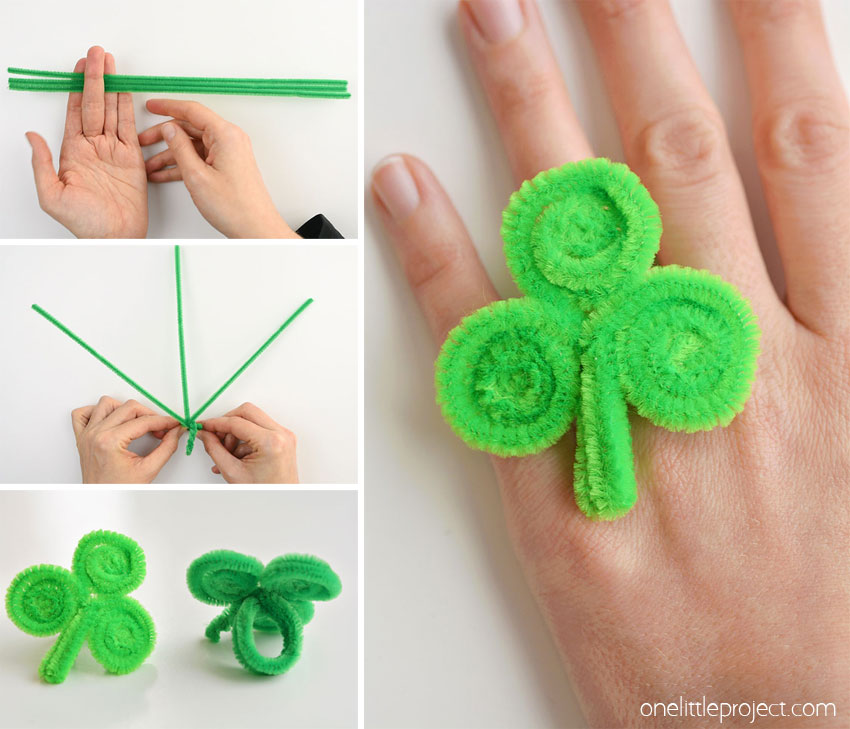 how to make a shamrock ring