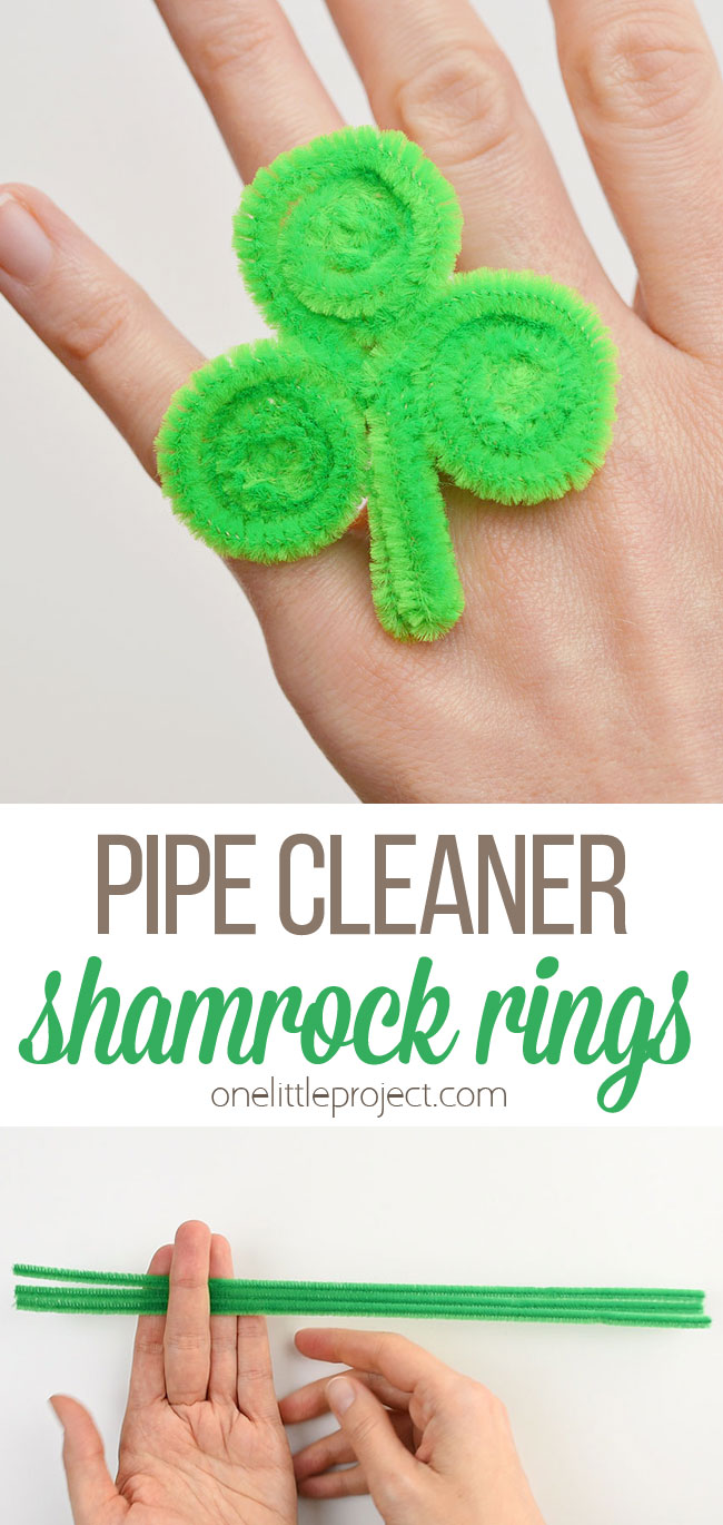 pipe cleaner shamrock rings