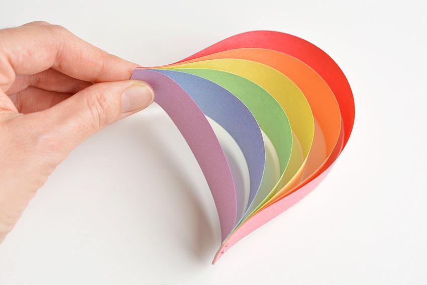 Paper Strip Rainbows - Paper Rainbow.