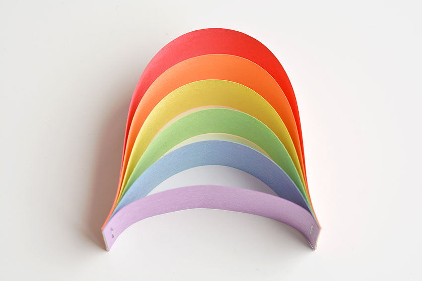 Paper Strip Rainbows - Paper Rainbow without clouds.