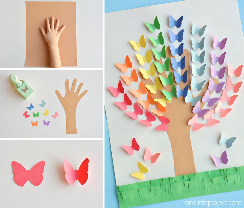 how to make a tree out of construction paper