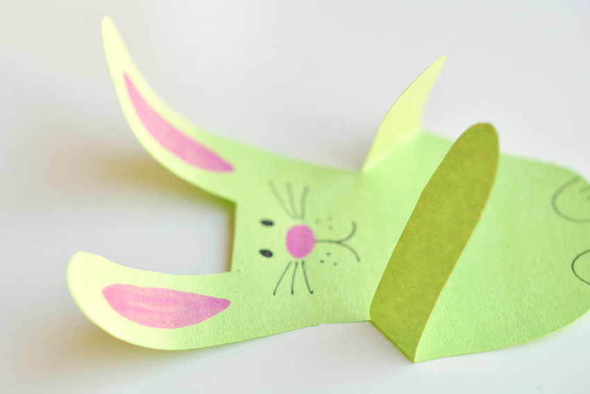 Paper Handprint Bunnies - The ears may curl naturally