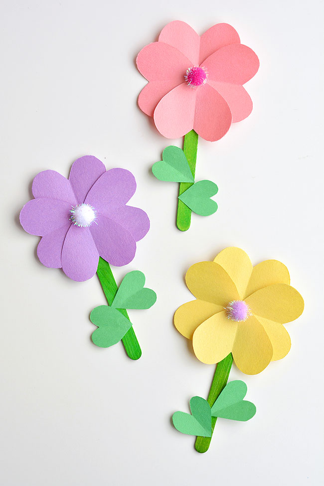 flowers out of construction paper