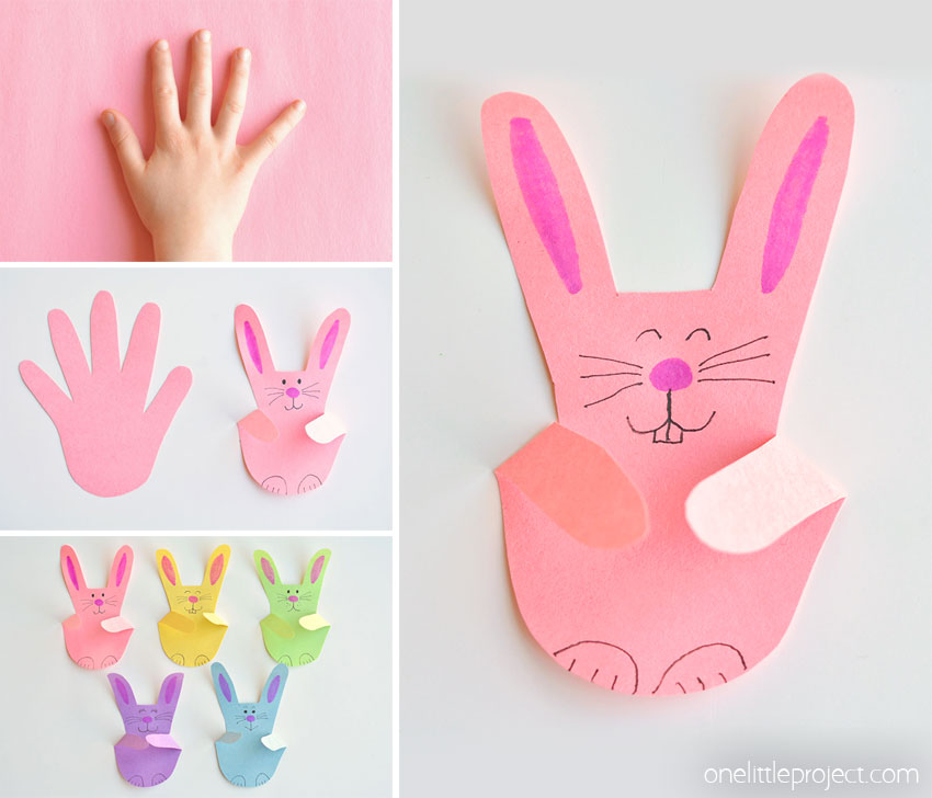 how to make handprint bunnies
