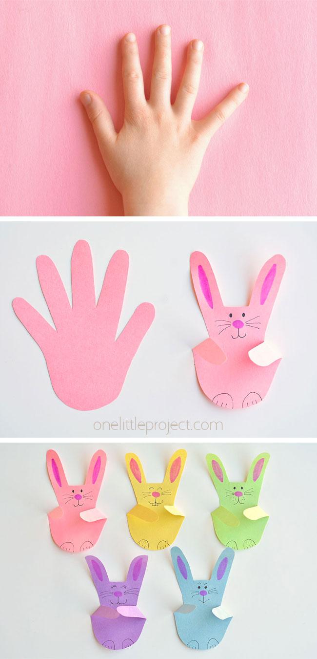 paper handprint bunnies