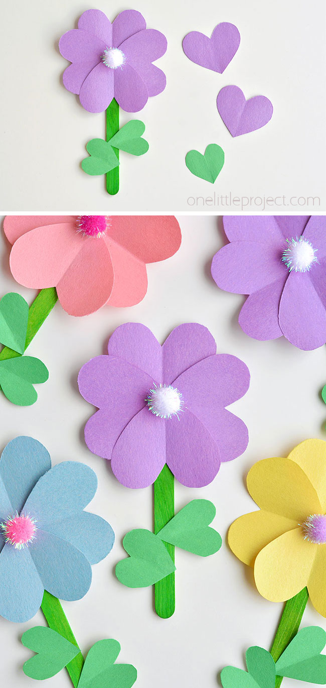 How to make construction paper flowers