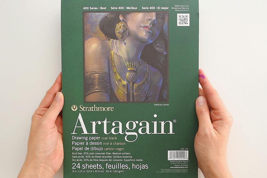 Strathmore Artagain Black Draing Paper