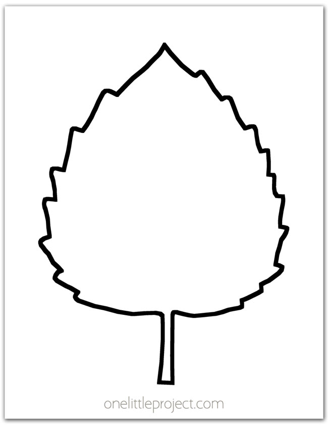 Aspen Leaf Outline
