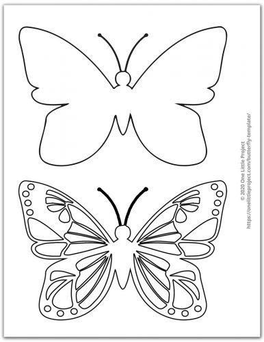Medium Butterfly Template 1