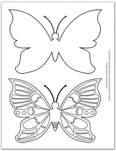 Medium Butterfly Template 2