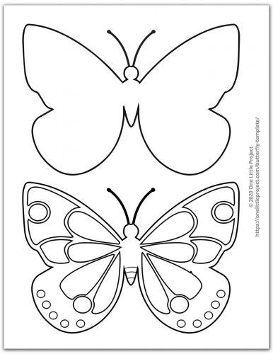 Medium Butterfly Template 3