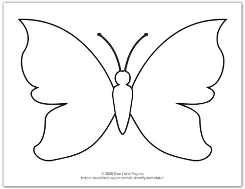 Large Butterfly Template 2