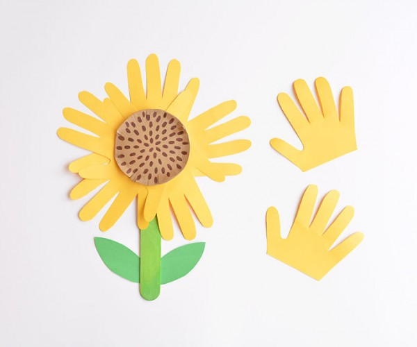 Handprint Sunflower Craft