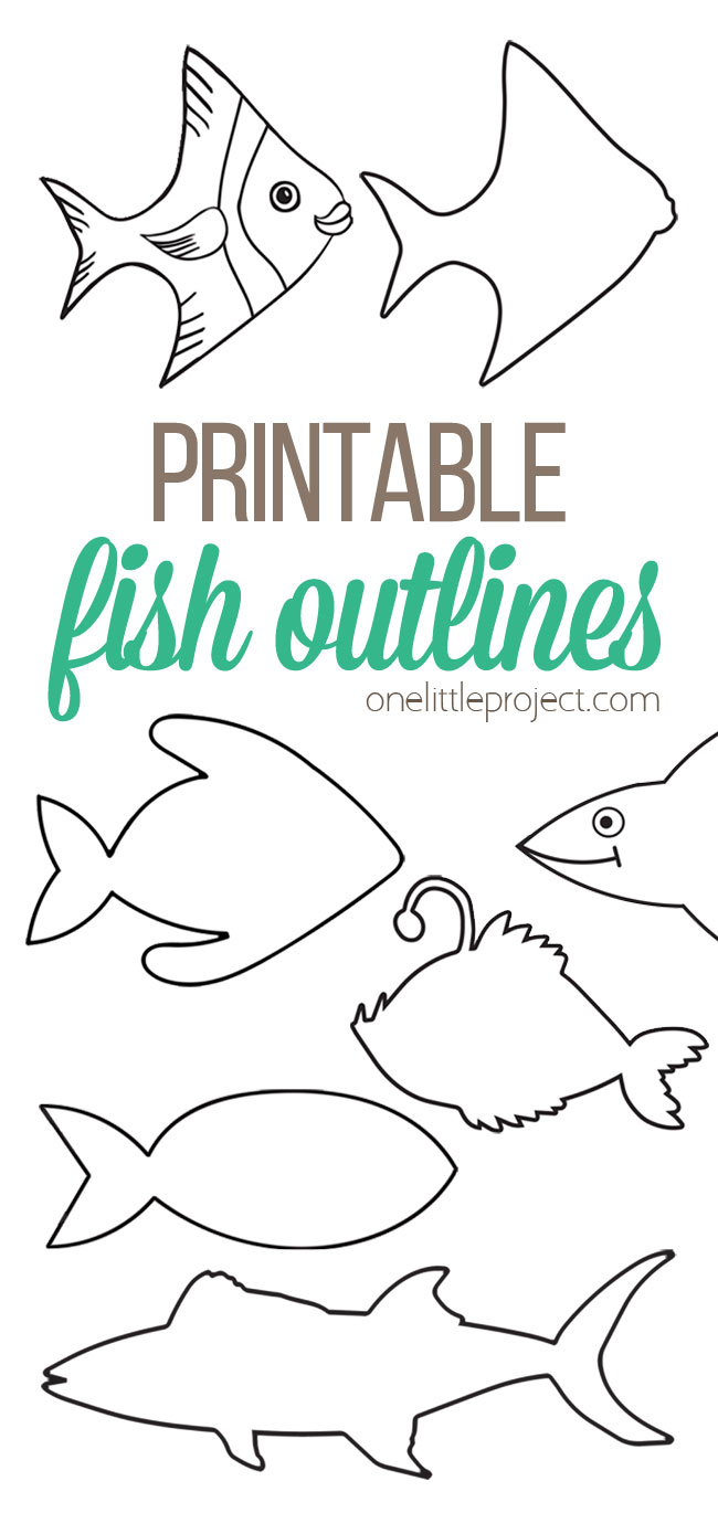 Printable Fish Outlines