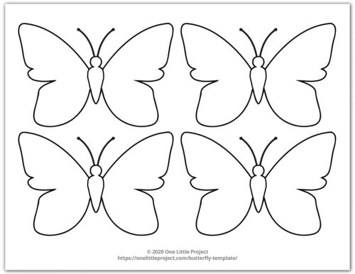 Small Butterfly Template 1