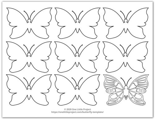Small Butterfly Template 2