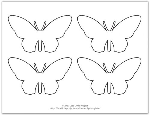 Small Butterfly Outline 6