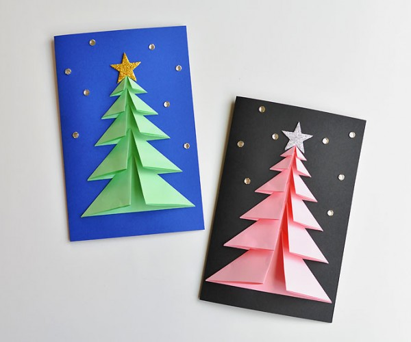 3D Christmas Tree Cards