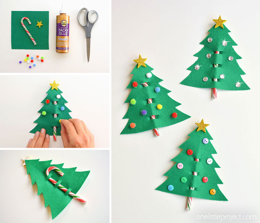 Candy Cane Felt Tree Gifts