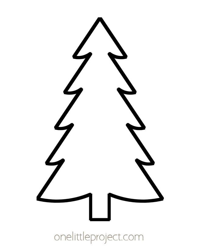 Christmas Tree Outline 3