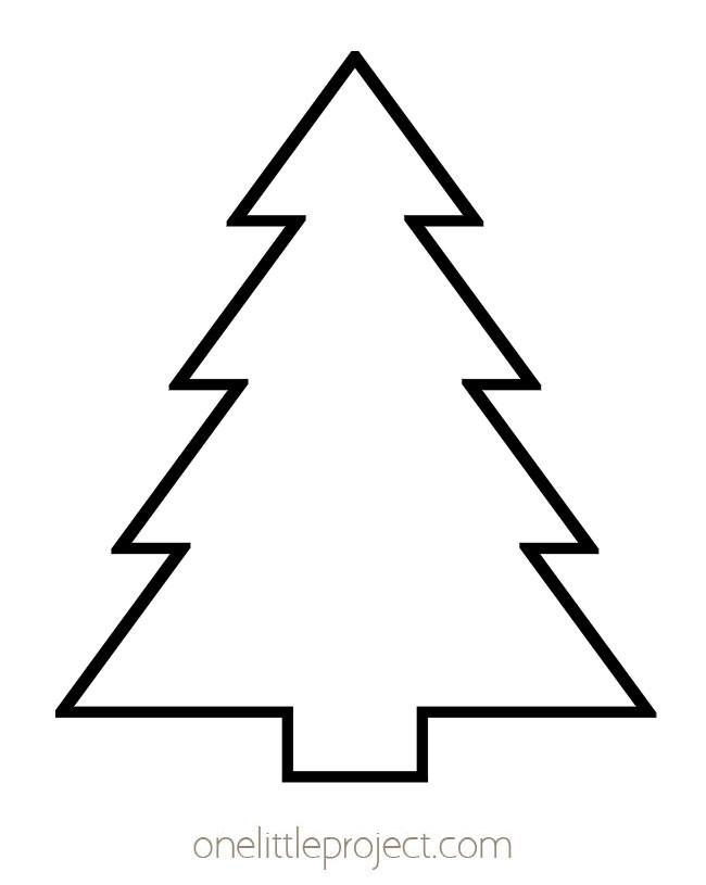 Christmas Tree Template 2