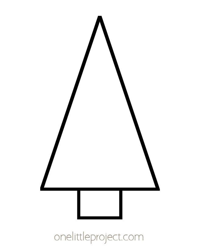 Christmas Tree Template 3