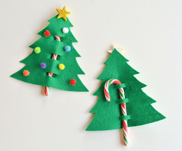 Candy Cane Felt Tree Christmas Favor