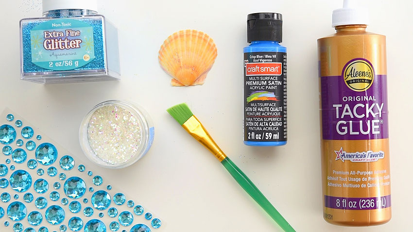 Supplies for Seashell Ornaments