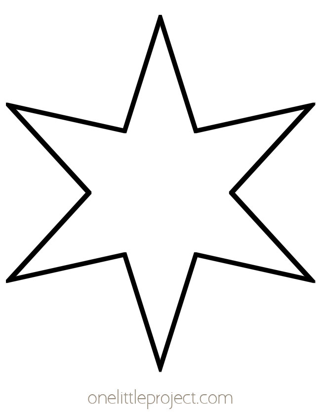 Star Outline - Skinny 6 Pointed Star