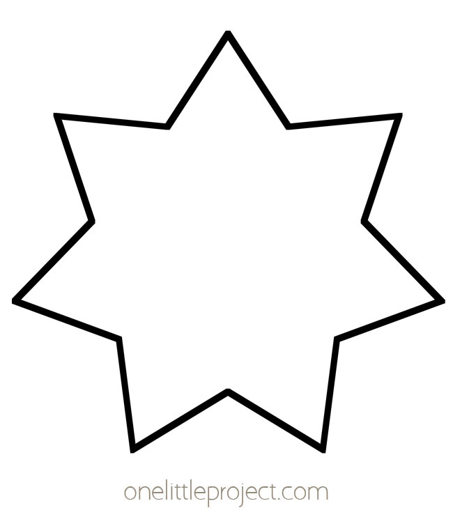 Star Outline - Seven Pointed Star