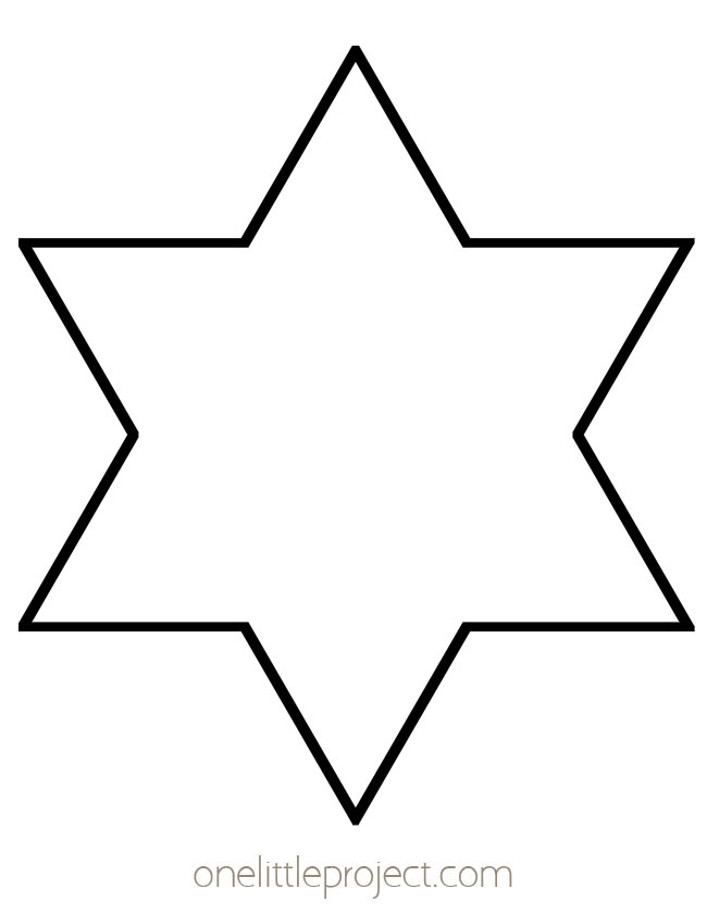 Star Outline - Six Pointed Star Shape