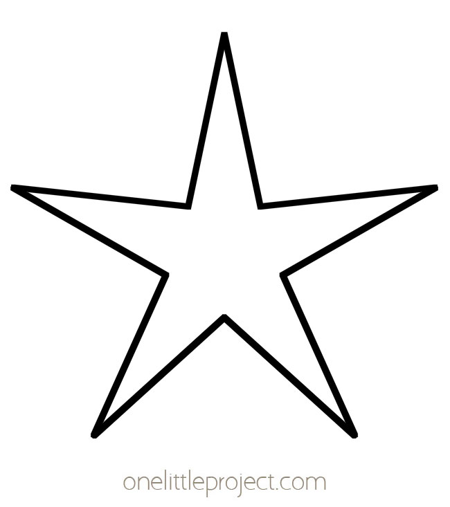 Star Template - 5 Pointed Skinny Star Outline