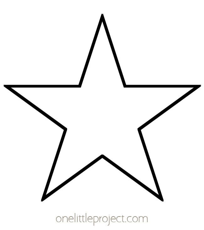 Star Template - Five Pointed Pentagram