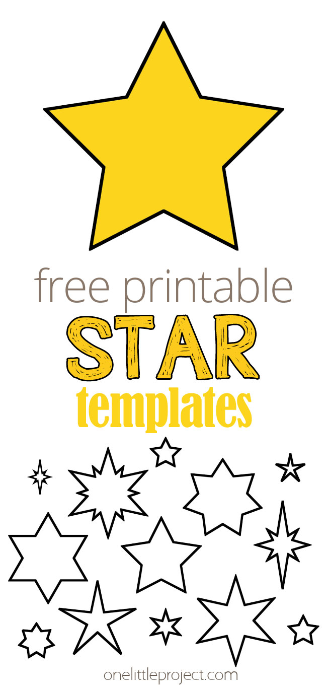 Free Printable Star Templates