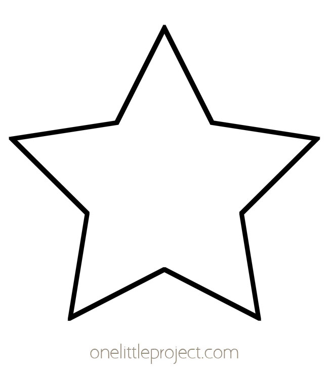 Star Template - Classic Five Pointed Star Shape